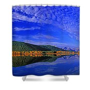 Fall Color Oxbow Bend Grand Tetons National Park Wyoming Shower Curtain