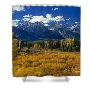 Fall Color Tetons Blacktail Ponds Grand Tetons Nationa Shower Curtain