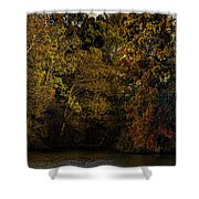 Fall Color Trees V9 Pano Shower Curtain