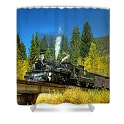 Fall Colored Bridge Shower Curtain