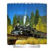 Fall Colored Bridge Shower Curtain