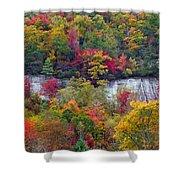 Fall Colors Along Tanasee Road Shower Curtain