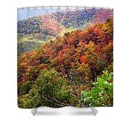 Fall Colors Along The Blueridge Shower Curtain