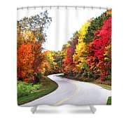 Fall Colors Along The Blueridge Parkway Shower Curtain