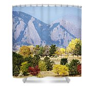 Fall Colors Along The Flatirons Shower Curtain
