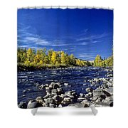 Fall Colors Along The Naches River Shower Curtain
