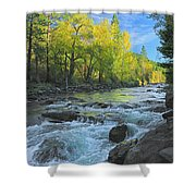 Fall Colors And The Little Salmon River Shower Curtain