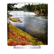 Fall Colors And Waterfalls Shower Curtain