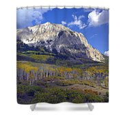 Fall Colors At Gunnison National Forest Shower Curtain