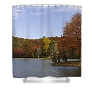 Fall Colors At Sherando Lake Shower Curtain
