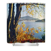 Fall Colors Frame Whiteface Mountain Shower Curtain