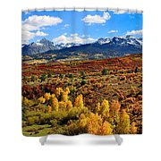Fall Colors In Ridgway Colorado Shower Curtain
