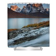 Fall Colors In Tasermiut Fiord Shower Curtain
