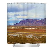 Fall Colors In The Lake Bed Shower Curtain
