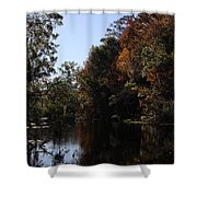 Fall Colors In The Swamp Shower Curtain
