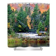 Fall Colors On The  Tahquamenon River   Shower Curtain