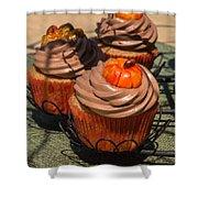 Fall Cupcakes Shower Curtain