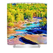 Fall Drought @ Ashokan Shower Curtain