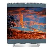 Fall Evening Falls Shower Curtain