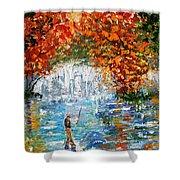 Fall Fishing Shower Curtain