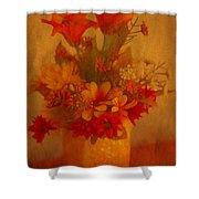Fall Flower Bouquet Shower Curtain