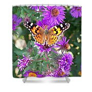 Fall Flutterby Shower Curtain