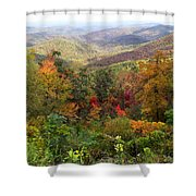 Fall Folage 3 Along The Blueridge Shower Curtain