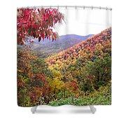 Fall Folage Along The Blueridge Shower Curtain