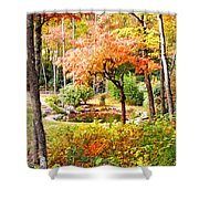 Fall Folage And Pond Shower Curtain