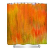 Fall Foliage Abstract Shower Curtain