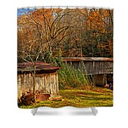 Fall Foliage At Meems Bottom Bridge Shower Curtain