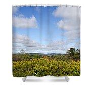 Fall Foliage Hilltop Landscape Shower Curtain