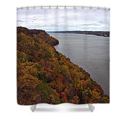 Fall Foliage On The New Jersey Palisades  Shower Curtain