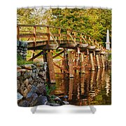 Fall Foliage Over The North Bridge Shower Curtain