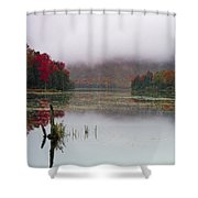 Fall Foliage Reflections In Northern Vermont Shower Curtain