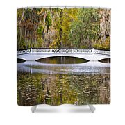 Fall Footbridge Shower Curtain