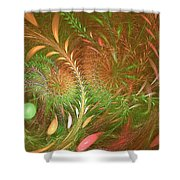 Fall Fractal Fields Shower Curtain