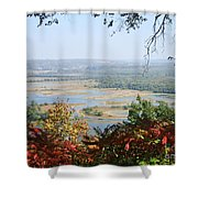 Fall Framed Islands Shower Curtain