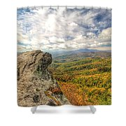 Fall From The Blowing Rock Shower Curtain