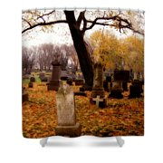 Fall Graveyard  Shower Curtain