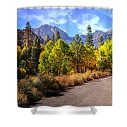 Fall Hiking In The High Sierras Shower Curtain