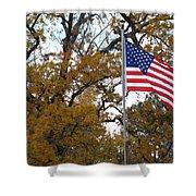 Fall In America Shower Curtain