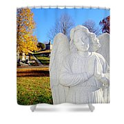 Fall In Angel Shower Curtain