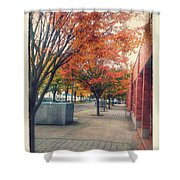 Fall In Downtown Vancouver Washington Shower Curtain
