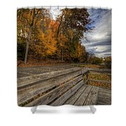 Fall In Mill Creek Park Shower Curtain