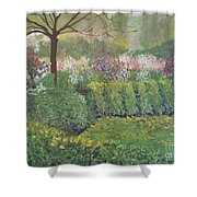 Fall In Monet's Garden Shower Curtain