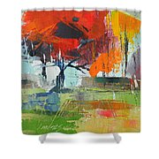 Fall In Sharonwood Park 2 Shower Curtain