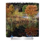 Fall In The Wetlands Shower Curtain