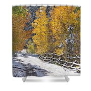 Fall Into Beartrap Meadow - Casper Mountain - Casper Wyoming Shower Curtain