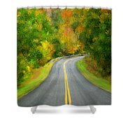 Fall Is Coming Country Road Shower Curtain